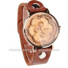Reloj de cuero al por mayor Reloj WL-064 de la señora de Movt del cuarzo de Japón del reloj