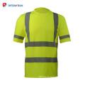 Le nouveau T-shirt de sécurité 100% polyester personnalisé à bas prix personnalisé ansi classe 2