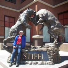 metal jardim escultura grande metal ofício urso touro estátua