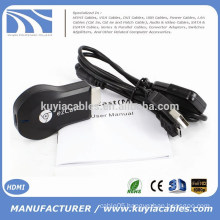 high quality 2015 Newest Arrival fasionable design ezCast ipush hdmi for TV air cast for phone