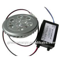 NEW AR111, 9 HIGH POWER LEDs,Base G53,driver outside