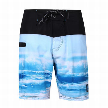 Badebekleidungs-Boardshorts 4-Wege-Stretch-Shorts mit Hawaii-Print