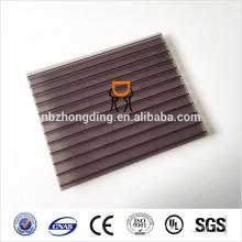 UV покрытие панели стены близнеца поликарбоната для теплицы