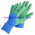 Doublure en coton couleur, gant de jardin Latex Kids