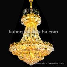 Lumières en cristal d'intérieur de vente chaude d'empire, éclairage de lustre de plafond fabriqué en Chine