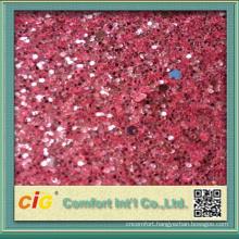 137cm Wide Shiny Material Decoration Use Glitter PU Vinyl Fabric