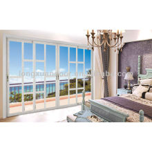 Quality Doors Supplier, Large Aluminum Sliding Door with Glass Grills and Modern Design