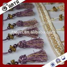 Produit en stock Pas cher Big Bargain pour rideaux Accessoires Perles en plastique Frangé Tassel Fringe