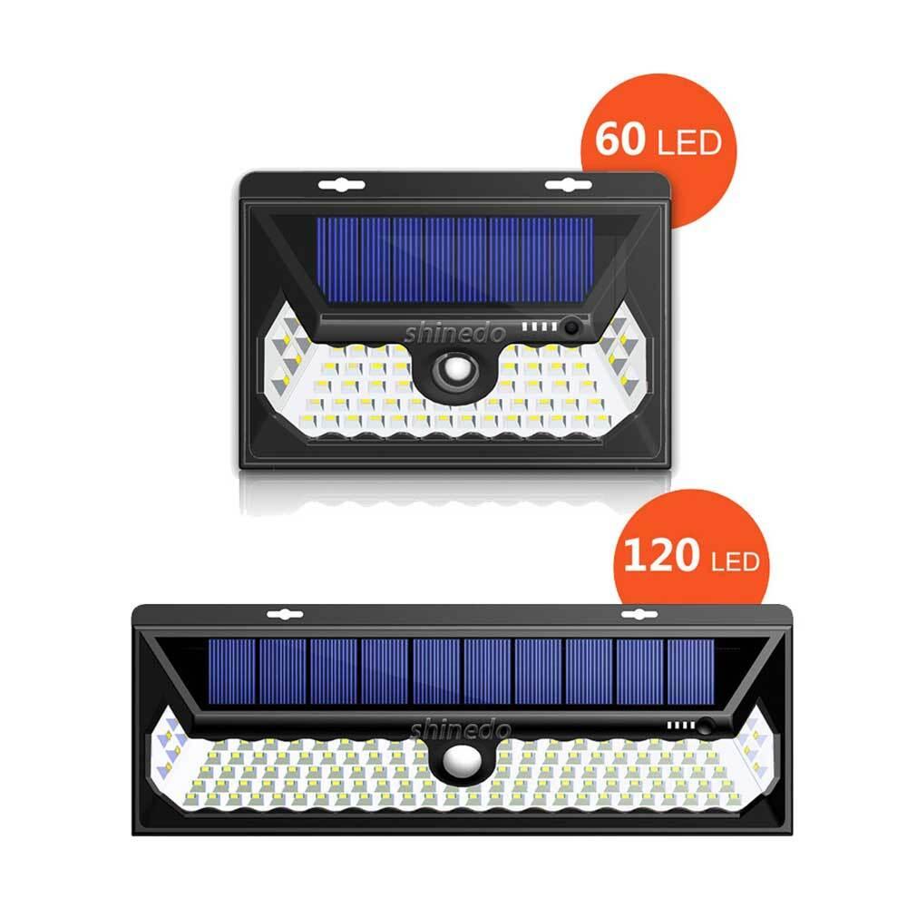 Outdoor 20 LED Solar Motion Sensor Lights Wireless Waterproof Exterior Solar Security Wall Light