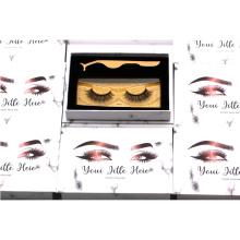 CH49 Hitomi custom logo eyelash packaging 4d Faux Silk Mink Eyelashes with paper eyelash packaging