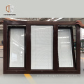 A casement window 3 panel glass thermo aluminum windows