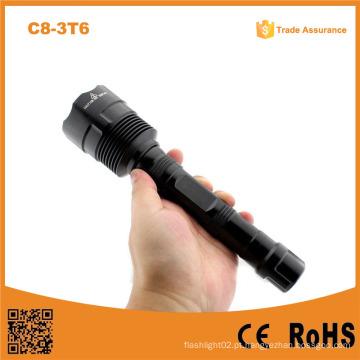 C8-3t6 recarregável 3 * Xml L2 T6 LED Hight mais brilhante Lanterna 3800lm Police Xml T6 Lanterna