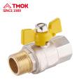TMOK Válvula de cobre Válvula de bola de gas especial Vástago de cobre amarillo Válvula de gas de ajuste Fabricante