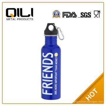 750ml kleine Mund Edelstahl Sport Wasserflasche Hersteller
