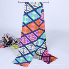 Senhora Moda Impresso Cetim De Seda Mágica Mutifunctional Cravat Scarf (YKY1091-13)