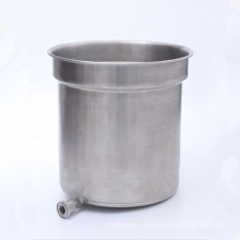 customized sheet metal OEM brushed stainless steel water buckets