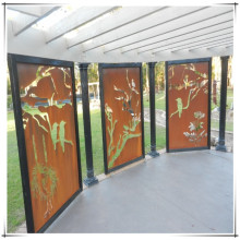 Decorative Laser Cut Metal Privacy Screen