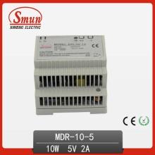 Fuente de alimentación de conmutación de 10W 5VDC 2A en carril DIN