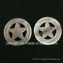 Таможня 3D Античная Плакировка отворотом значок Медали