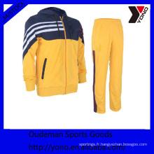 2017 Nouvelle mode jaune à manches longues de basket-ball uniforme, maillot de basket-ball