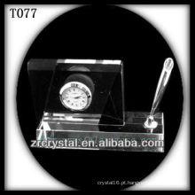 Maravilhoso K9 Crystal Clock T077