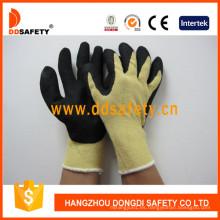Guantes de corte y resistencia al calor con forro de fibra de aramida amarilla Dcr512