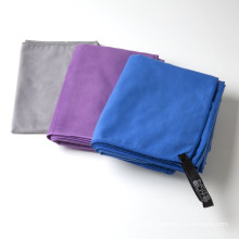 2018 venda quente de secagem rápida leve peso microfibra esporte toalha de camurça toalha