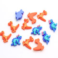 100pcs/Lot Kawaii Resin Dinosaur Cabochons Flatback Dino Cabs For Hairbow Center Embellishment DIY Phone Accessories