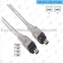 4 pinos para 4 pinos IEEE 1394 Link Fire Wire DV Cabo