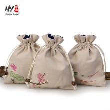 wholesale custom chinese style linen gift bag