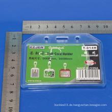 Kundenspezifischer Hartplastik starrer Namenskartenhalter / Kristallkartenhalter