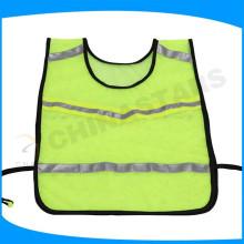 Chaleco reflectante de corredores con cinta reflectante y banda elástica lateral