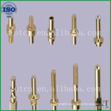 alfileres de latón de fabricación de metal de precisión modificado para requisitos particulares