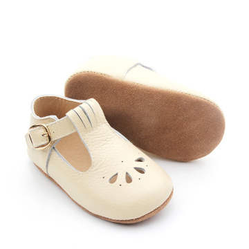 Borong Hollow Out T Bar Baby Dress Shoes