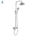 KDS-02M top quality solid brass triple small hand shower rose golden cold and hot water shower set