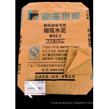 Bolsa de cemento de papel Kraft de dos capas