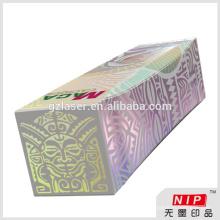Übertragen Sie Hologramm-Bilder auf keine Tinte gedruckt Lebensmittel Verpackung Papier-Box
