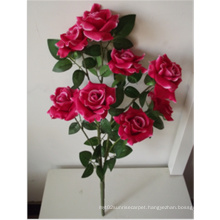 Factory Wholesale Cheap Small Wooden Roses Decorative Artificial Flowers