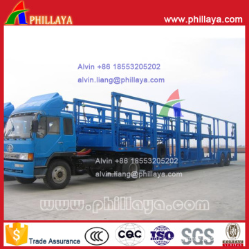 Frame-Open Car Carrier Semi Trailer for Philippines (6 cars)