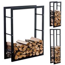 Support de bois de chauffage détachable enduit de poudre de fer