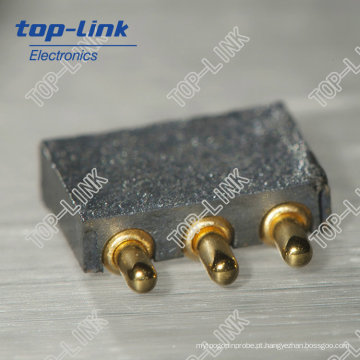 2.50mm Pitch ângulo direito 3pin Pogo Pin Connector