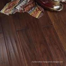 Competitive Price Waved Dark Brown Indoor Solid Teak Wood Flooring Indonesia
