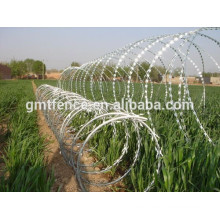 High quality low carbon steel wire / low price concertina Razor Barbed Wire For Airport Fence