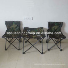 Popular 3 piezas conjuntos camping para ir de excursión, tela del camuflaje plegable