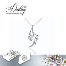 Destino joias cristal de Swarovski colar pingente de anjo