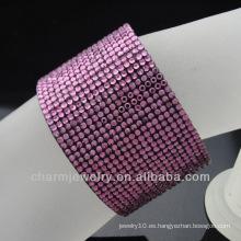 2015 nueva pulsera cristalina del pun ¢ o de los vners de la pulsera de las muchachas de la manera de la llegada para las mujeres