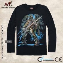 LY100015 camisas de manga longa t homens
