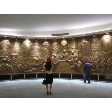 escultura de la pared de bronce del alivio del arte del metal de la decoración conmemorativa para la venta