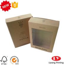 Kraft paper underwear packaging box with window