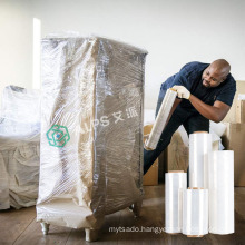 Alps lldpe Clear Stretch Film Jumbo Roll Factory China Wrap 15 Micron lldpe Stretch Wrap Film